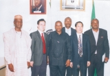 Governor Ikedi Ohakim of Imo State (3rd left) in a group photograph with some foreign investors and executives of the Nigerian Investments Promotion Council (NIPC) after a meeting in Abuja, recently.