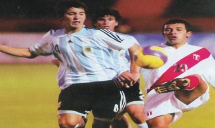 The Argentine U-17 Team against Peru during the South America qualifiers