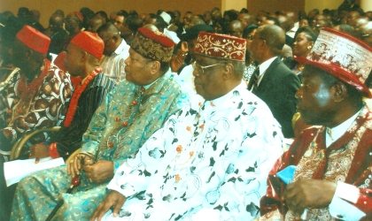 Cross section of traditional rulers during a meeting of stakeholders at Government House, Port Harcourt.