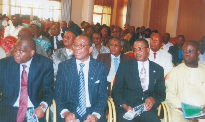 Cross section of dignitaries at the stakeholders' meeting, held at Government House, Port Harcourt, yesterday. Photo: Chris Monyanaga