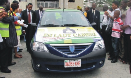 One of the sixty vehicles donated by the Empowerment Support Initiative (ESI) for female commercial drivers in Rivers State.