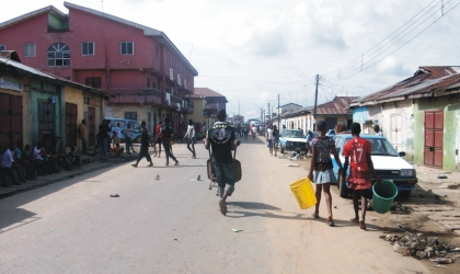 Port Harcourt streets were empty yesterday as residents engaged in the monthly environmental sanitation exercise. Photo: Fred-Horsfall, Adaye