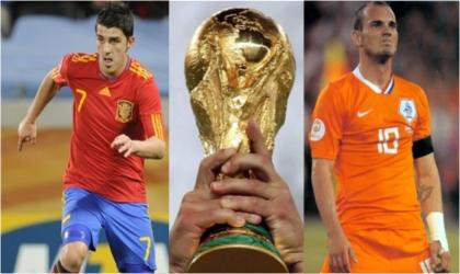 Villa, Spain's Highest Goal Scorer and Sneijder, Holland's Goal Digger