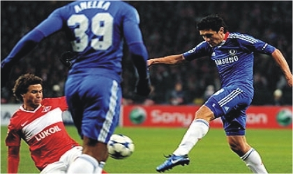 ; Zhirkov lashed in his first goal for Chelsea upon returning to his native Russia, yesterday.