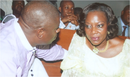Member,Federal House of Representatives, Hon Dakuku Peterside (left) chatting with Administrator, Greater Port Harcourt Authority, Dame Aleruchi Cookey-Gam, during the inauguration of the Rivers State House of Assemble, penultimate, Monday