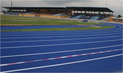 The impressive tartan tracks at the Adokiye Amiesimaka Stadium complex, where the athletics events of the 17th NSF will hold