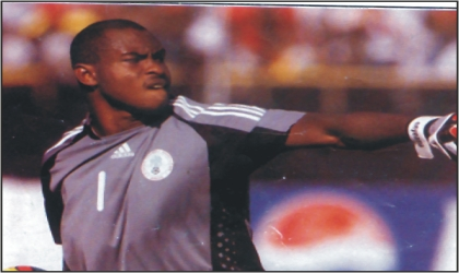 Enyeama in one of his outings for the Super Eagles