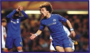 Chelsea's David Luiz in high spirits for the final match against Benfica, today