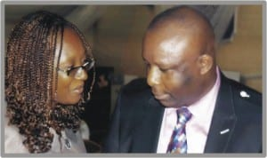 Rivers State Commissioner for Empowerment and Employment Generation, Hon Ipalibo Harry (right), with Director, African Centre for Environmental Protection, Mrs Kaine Chinwah, during the World Environment Day workshop in Port Harcourt, yesterday. Photo: Egberi Sampson