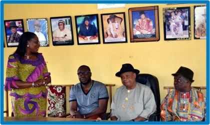 L-R: Administrator, Greater Port Harcourt City Development Authority, Dame Aleruchi Cookey-Gam, Eleme LGA Chairman, Hon. Oji Ngofa, HRH Chief Philip Osaro and Chief B.M Olowa, during a sensitisation meeting between the Authority and Aleto Clan in Eleme LGA for the acquisition of lands for the Eleme Industrial Area by the Rivers State Government, recently.