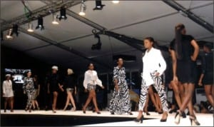 Participants on parade at the 2013 Port Harcourt International Fashion Week at Aztech Acrum in Port Harcourt, last Friday