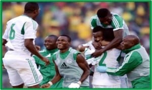 Eagles players celebrating their victory in Adisa Babas, during the World Cup qualifiers