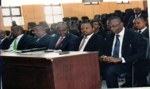 Cross section of branch chairmen, during an exco meeting with the acting Chief Judge of Rivers State, Hon. Justice Peter N.C. Agumagu, at the new High Court complex Port Harcourt, recently.                  Photo: Nwiueh Donatus Ken