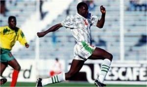 Late football hero, Rasheed Yekini during his active footballing days