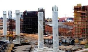 An overhead bridge across Abuja ligh rail on the outer northern expressway near the Brick-City Estate in Abuja. Photo: NAN