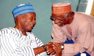 Former Managing Director, Nigerian Airways, Capt. Paul Jahal (left), with the former Managing Director, Federal Aviation Authority of Nigeria (faan), Mr Mohammed Baba, at a meeting of aviation elders with aviation unions in Abuja last Tuesday. Photo: NAN