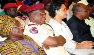 Dignitaries at the finals of the National Safety Competition for secondary schools in Abuja, last Friday.
