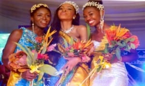 Winner of 2013 Miss Centenary, Theodora Kelechi Atako (middle) with the runners-up after the keenly contested Port Harcourt Centenary Beauty Pageant in Port Harcourt, recently.