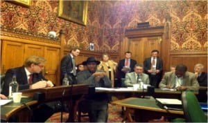 Governor Chibuike Rotimi Amaechi of Rivers State (3rd left) in the House of Commons last Thursday