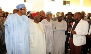 APC leaders listening with rapt attention to Governor Chibuike Rotimi Amaechi (right), during their visit to Rivers State, recently.