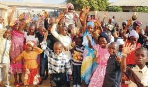 Children celebrating Christmas in Kagadama in Bauchi State,  last Wednesday. Photo: NAN