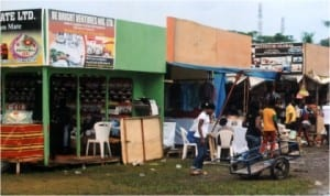 A view of the 9th Port Harcourt International Trade Fair, during the opening ceremony at Isaac Boro Park on 22nd  November, 2013.