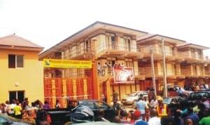 Oshodi Resettlement Market, Lagos, inaugurated by Governor Fashola of Lagos State, yesterday. Photo: NAN