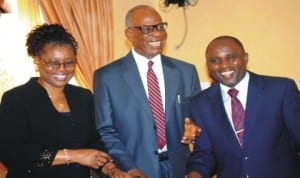 Left: Secretary, Nigerian Law Reform Commission (NLRC), Mrs Abiodun Oguneye, NLRC Commissioners, Prof. Cyprian Okonkwo and Mr Kefas Magaji, at the national workshop on the unification and reform of the criminal and penal codes (part 3) in Abuja last Tuesday.