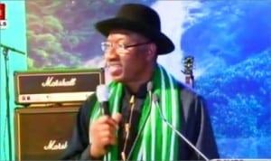 President Goodluck Jonathan speaking at the World Economic Summit in Davos, Switzerland, yesterday