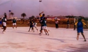 Handball players in action during a national event in Port Harcourt, Rivers State, recently