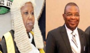 Aloma Mariam Mukhtar, Chief Justice of Nigeria and Justice Peter Agumagu, Rivers State Chief Judge
