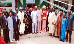 Heads of Federal polytechnics during their 127th regular meeting at the Federal Polytechnic, Oko,  in Anambra State, last Wednesday.