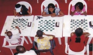 Chess players displaying their talents during a national event in Port Harcourt, Rivers State, recently.