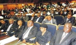 Some judges of the Court of Appeal at their swearing-in in Abuja, recently.