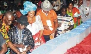 Delegates voting at the APC Rivers Congress in Port Harcourt, last Saturday