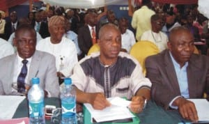 Participants at a regional operational management meeting of the Federal Inland Revenue Service for the South-East region in Owerri last Wednesday. Photo: NAN