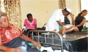 Some of the victims of Nyanya explosion being treated at Nyanya General Hospital in Abuja, last Friday