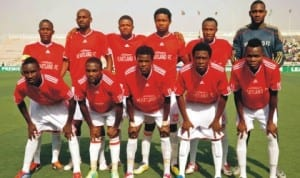 Heartland FC players ready for acton during Glo league match recently