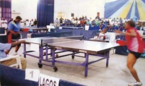 Table Tennis players struggling for honour during a national sporting event in Port Harcourt, Rivers State, recently