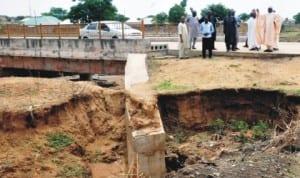 The bridge into Tambari Housing Estate in Bauchi