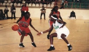 Basketball players struggling for honours during a National Championship in Port Harcourt, Rivers State recently.