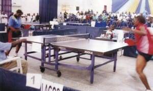 Table tennis players struggling for honours during a national event in Port Harcourt, Rivers State, recently.