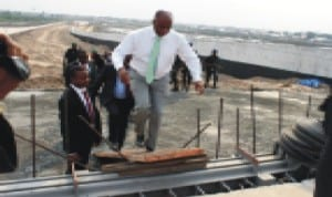 Governor Amaechi inspecting an ongoing project