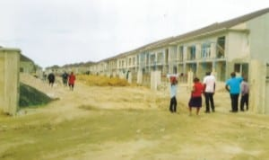 Rivers State Golf Estate under construction, one of the public-private partnership projects.