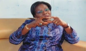 Administrator, GPHCDA, Dame Aleruchi Cookey-Gam explaining a point during the interview