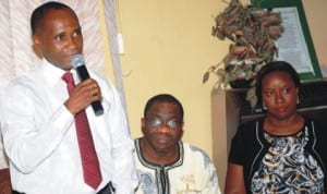 L-R: Director-General, Enugu Chamber of Commerce, Industry, Mines and Agriculture (ECCIMA), Mr Emeka Okereke, chairman, Chartered Institute of Bankers, Enugu chapter, Mr Victor Agunwah and representative of Manufacturers Association of Nigeria, Mrs Ijeoma Ezensor, at the ECCIMA stakeholders meeting in Enugu, recently.