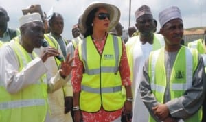 L-R: Managing Director, Federal Airports Authority of Nigeria (FAAN), Mr Saleh Danoma, leader of delegation, House Committee on Aviation, Rep. Nkiru Onyejeocha and Rep. Ricco Mohammed, during the committee's inspection of  facilities at Muritala Mohammed International Airport in Lagos, last Wednesday.