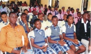 Cross section of participants at the Inter-School debate competition for schools held recently in Port Harcourt. Photo: Prince Dele Obinna