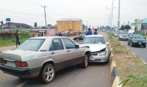 Scene of an accident on Airport Road in Benin City, recently.