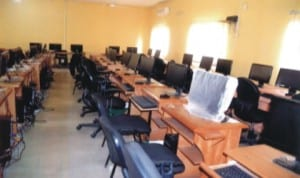 Computer section of the Rivers State University of Science and Technology, Port Harcourt. Photo: Chris Monyanaga.